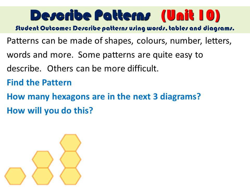 Describe Patterns (Unit 10)