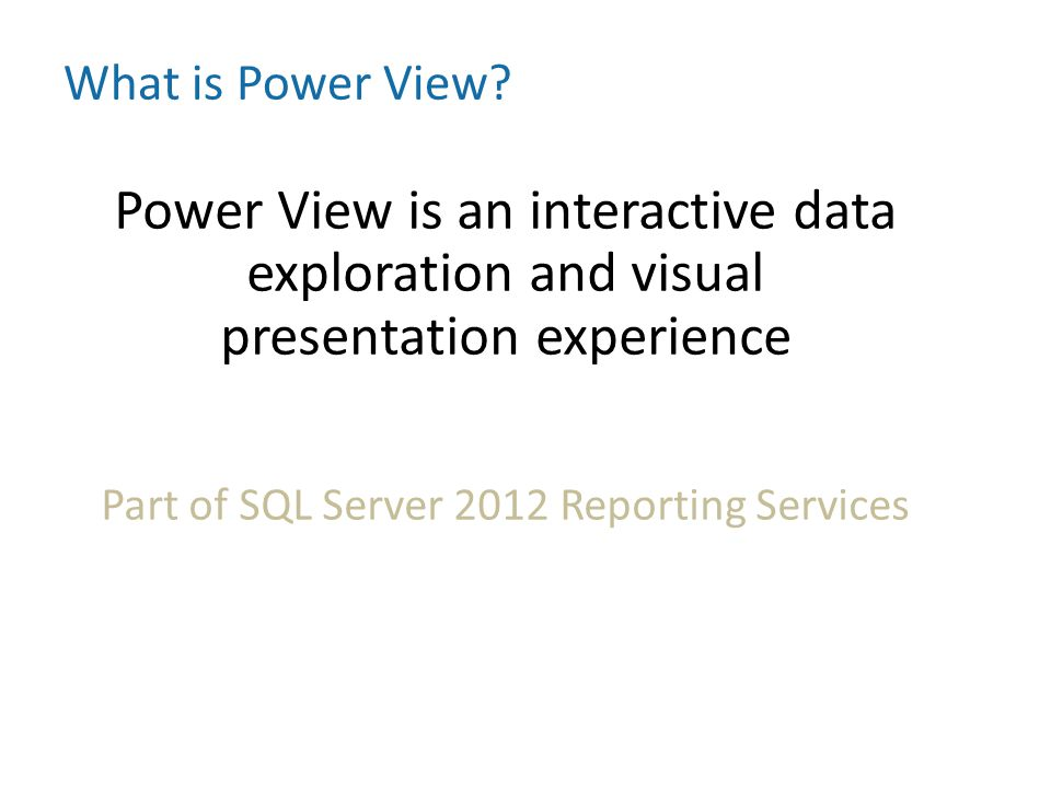 Part of SQL Server 2012 Reporting Services