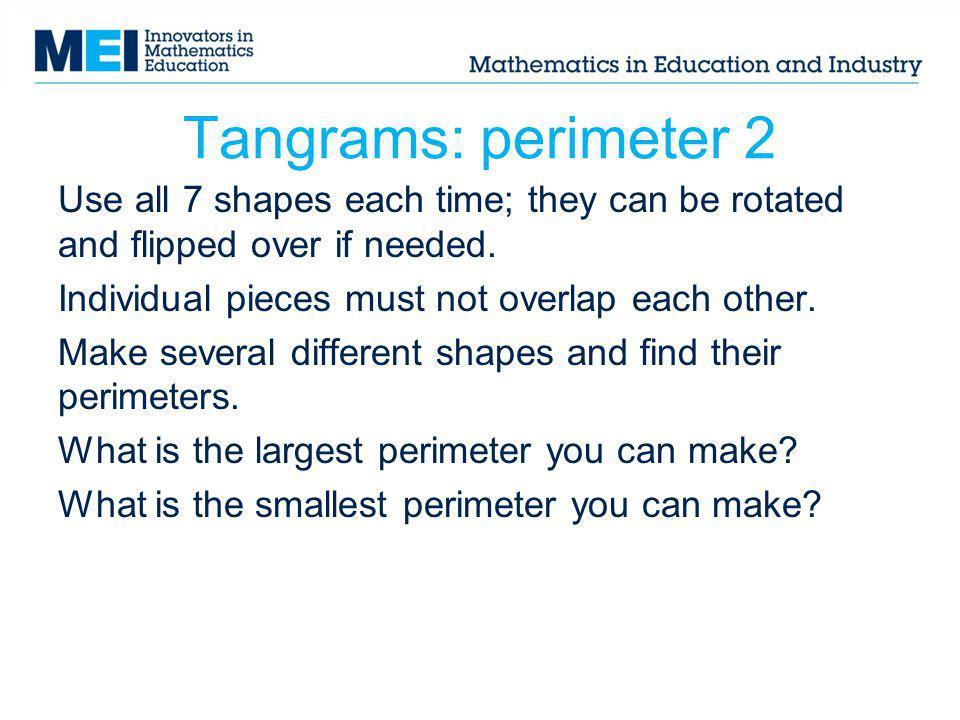 Tangrams: perimeter 2