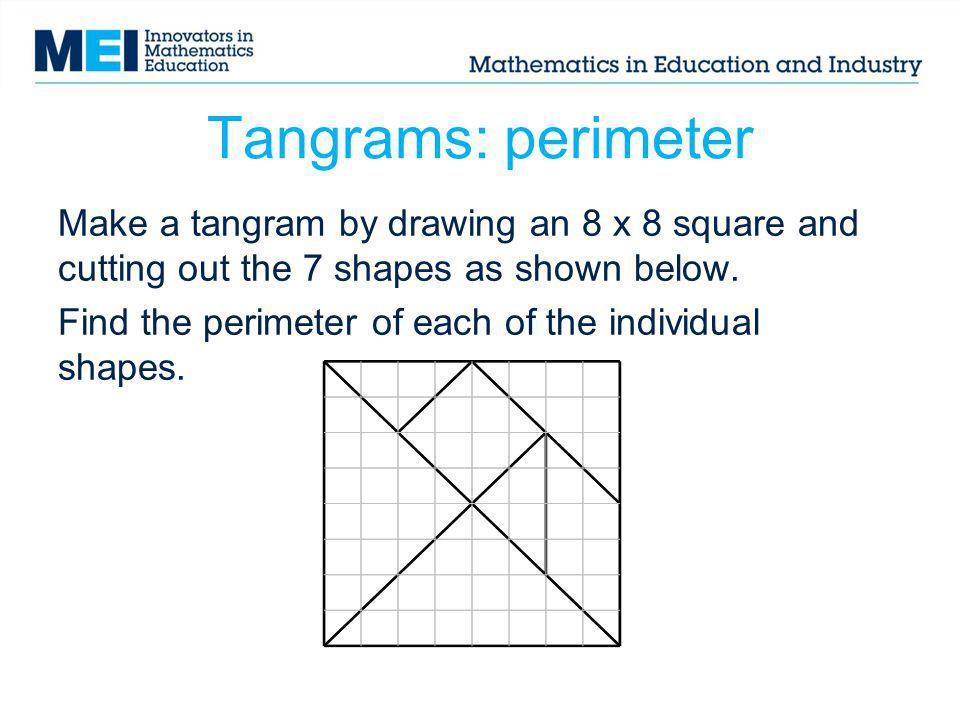 Tangrams: perimeter