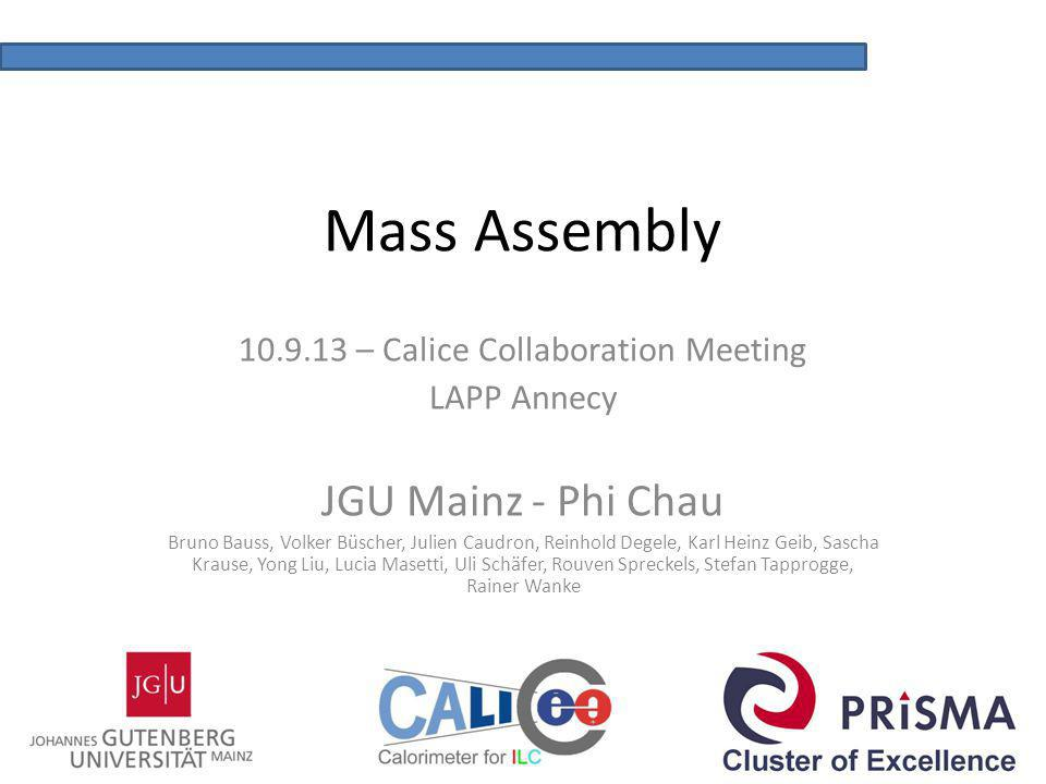 10.9.13 – Calice Collaboration Meeting