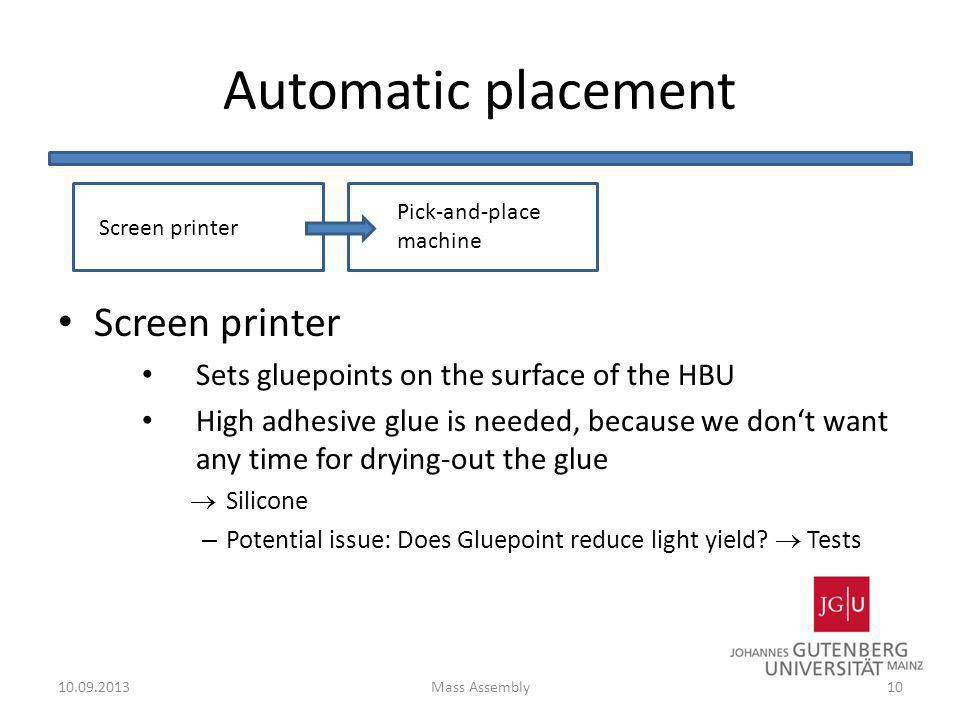 Automatic placement Screen printer