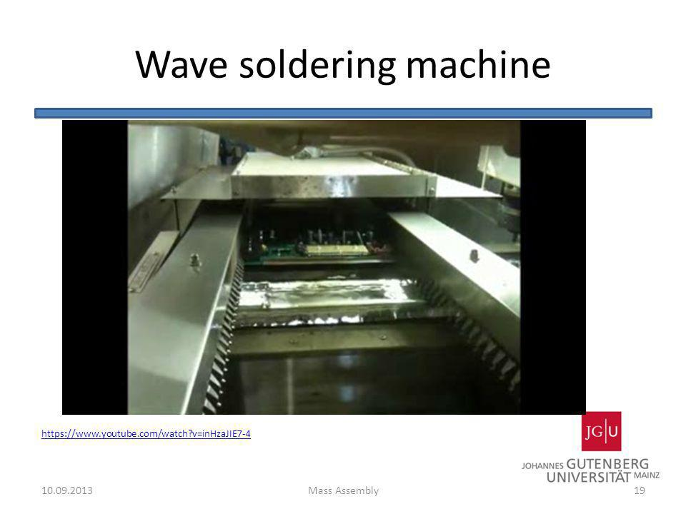 Wave soldering machine