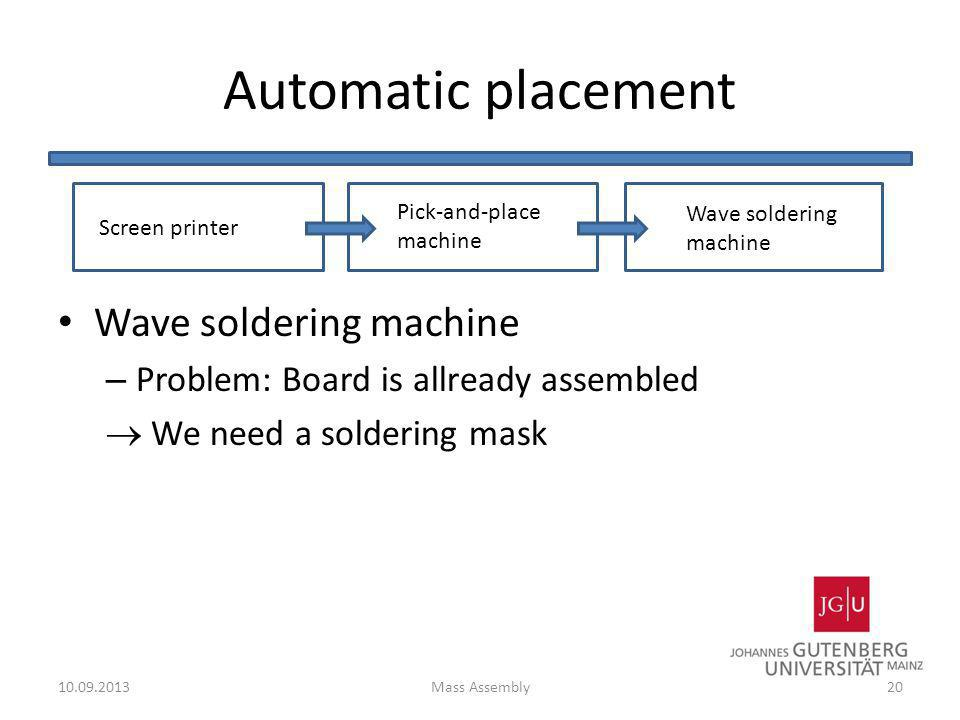 Automatic placement Wave soldering machine