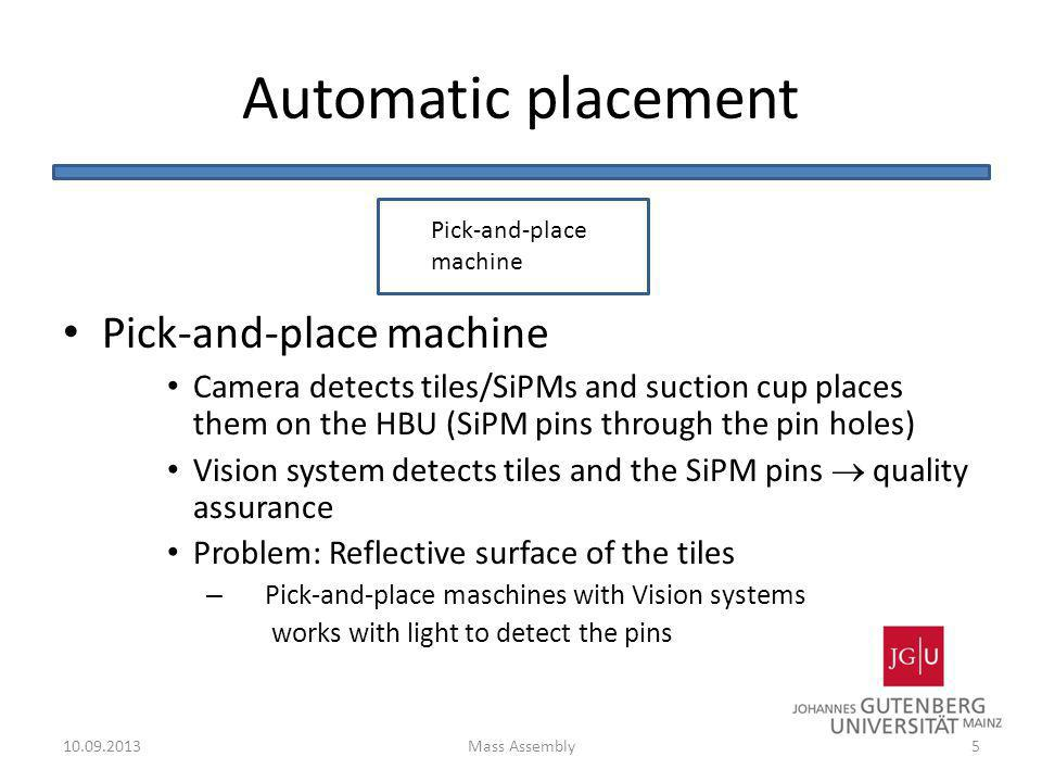 Automatic placement Pick-and-place machine