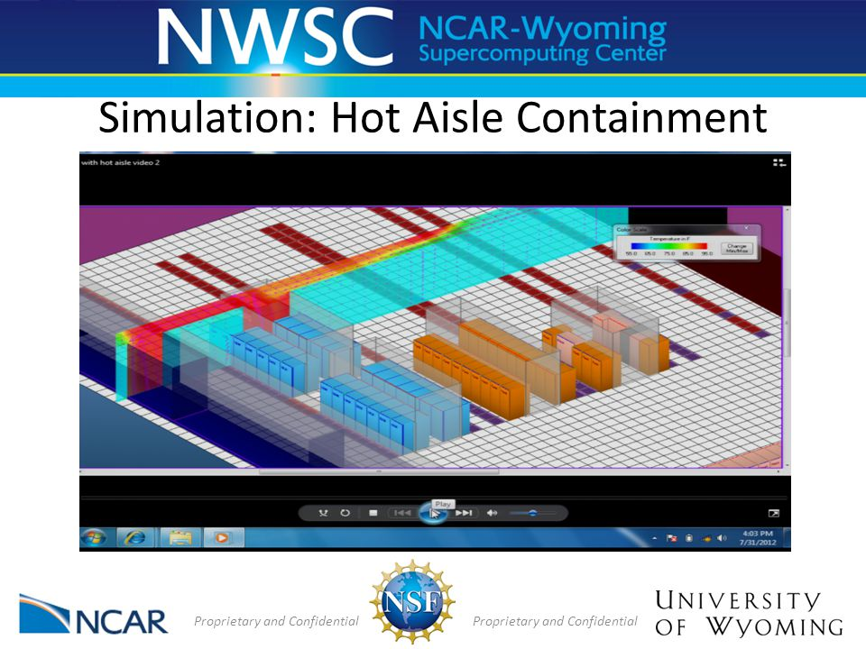 Simulation: Hot Aisle Containment