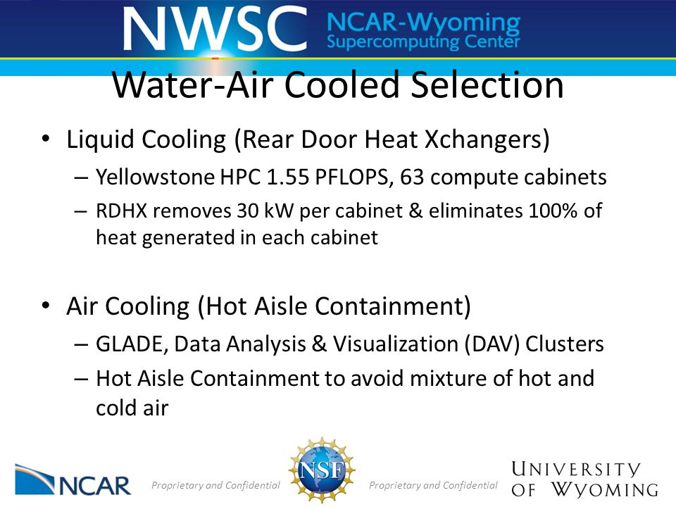 Water-Air Cooled Selection