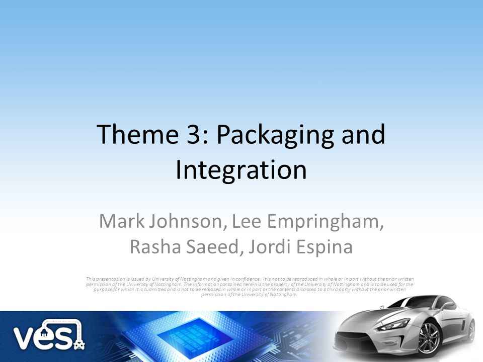 Theme 3: Packaging and Integration