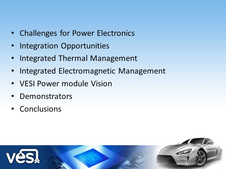 Challenges for Power Electronics