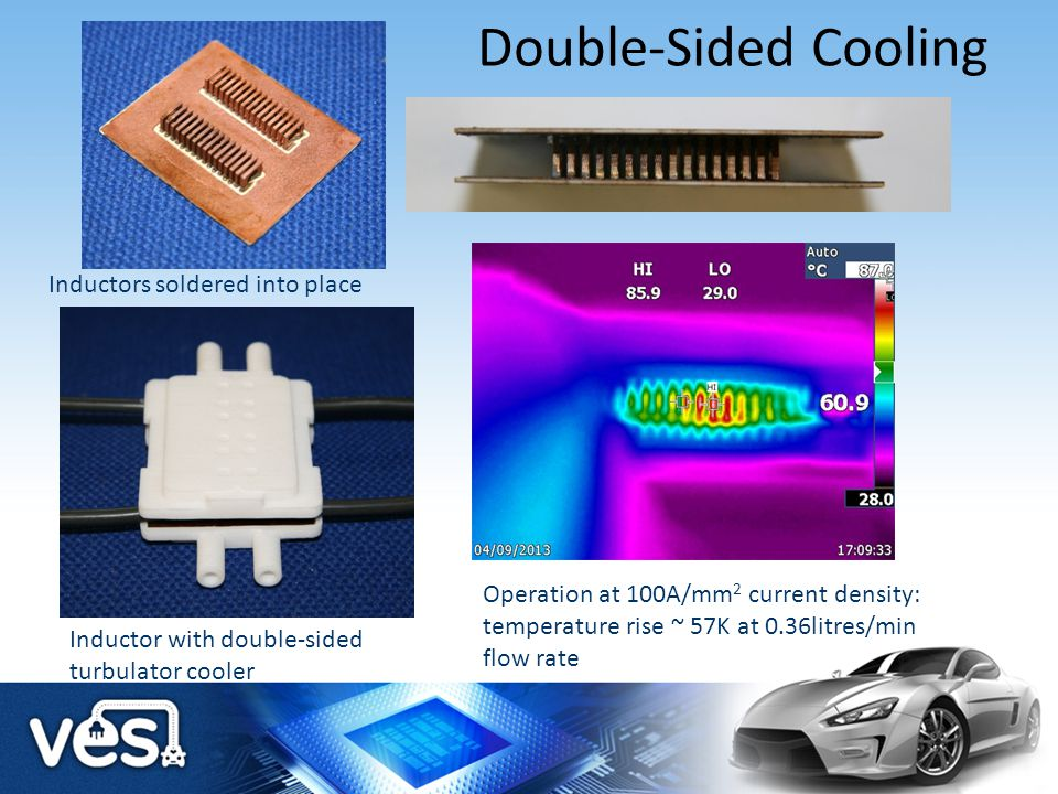 Double-Sided Cooling Inductors soldered into place