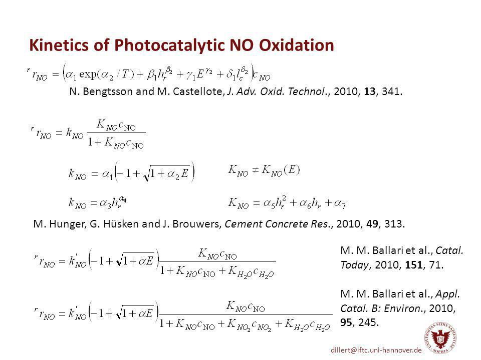 Kinetics of Photocatalytic NO Oxidation