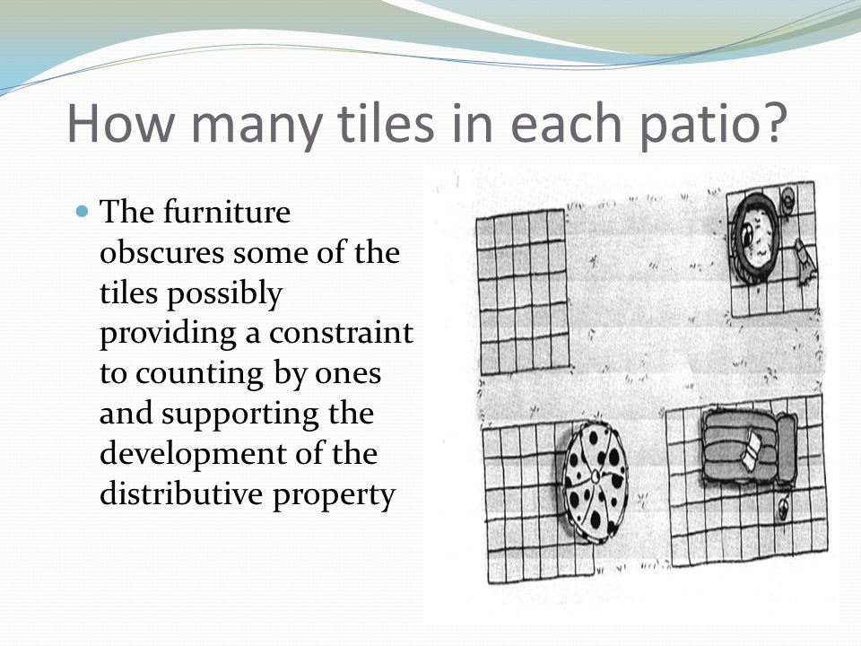 How many tiles in each patio