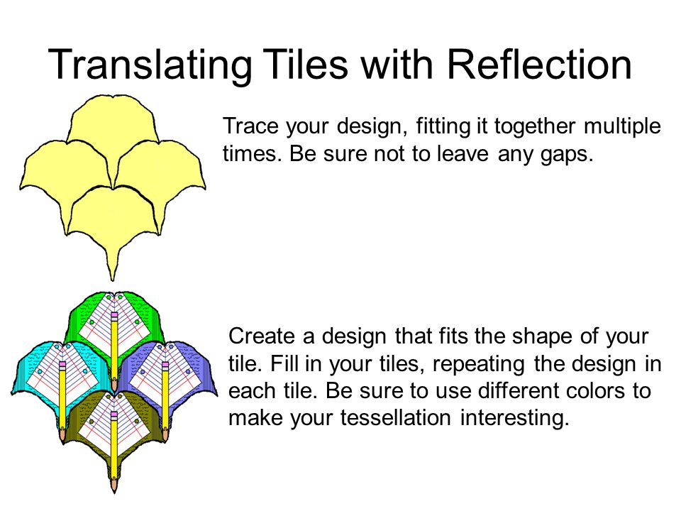 Translating Tiles with Reflection