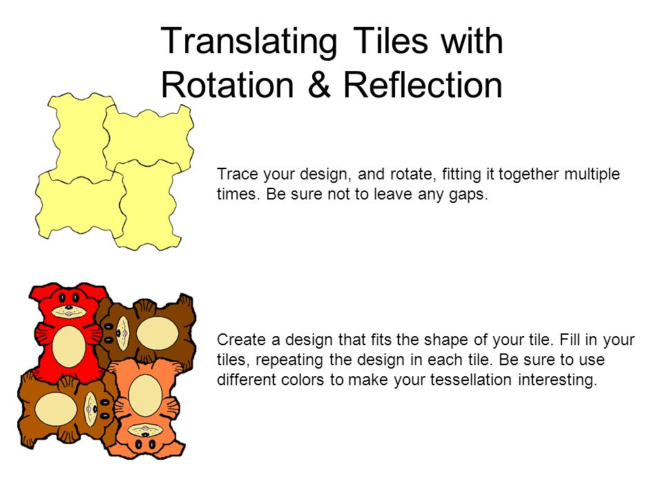 Translating Tiles with Rotation & Reflection