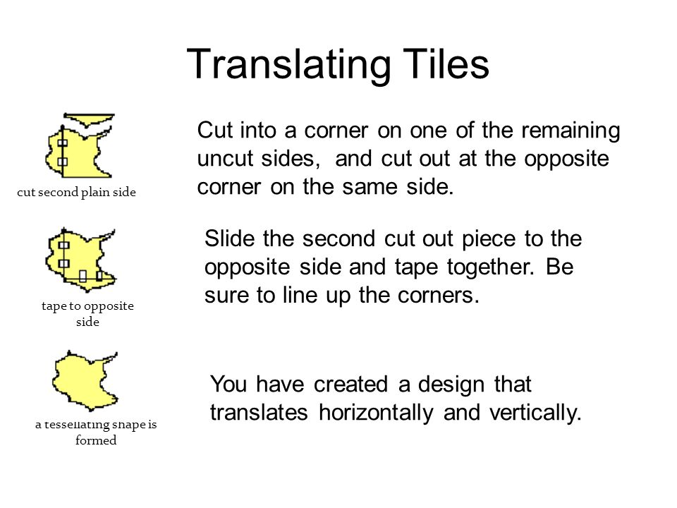 a tessellating shape is formed