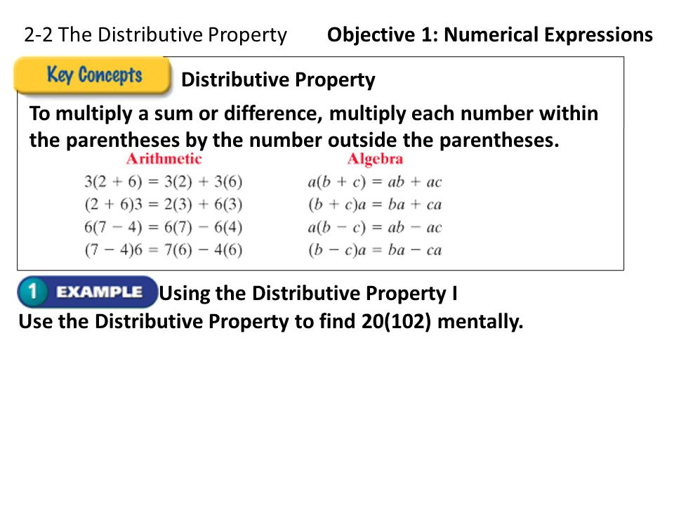 2-2 The Distributive Property