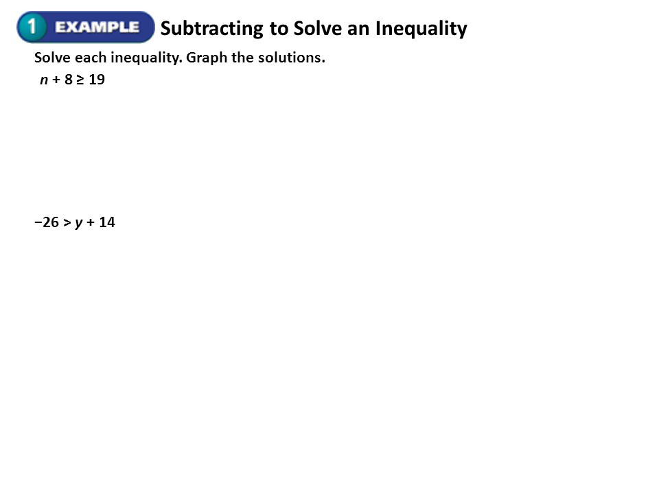 Subtracting to Solve an Inequality