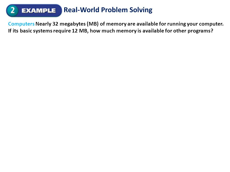 Real-World Problem Solving