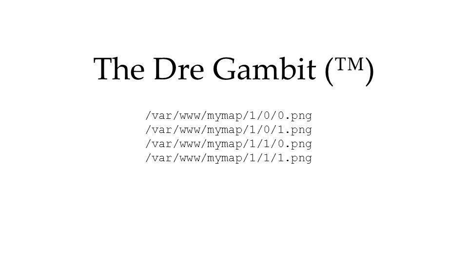 The Dre Gambit (™) /var/www/mymap/1/0/0.png /var/www/mymap/1/0/1.png