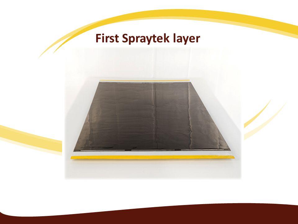 First Spraytek layer