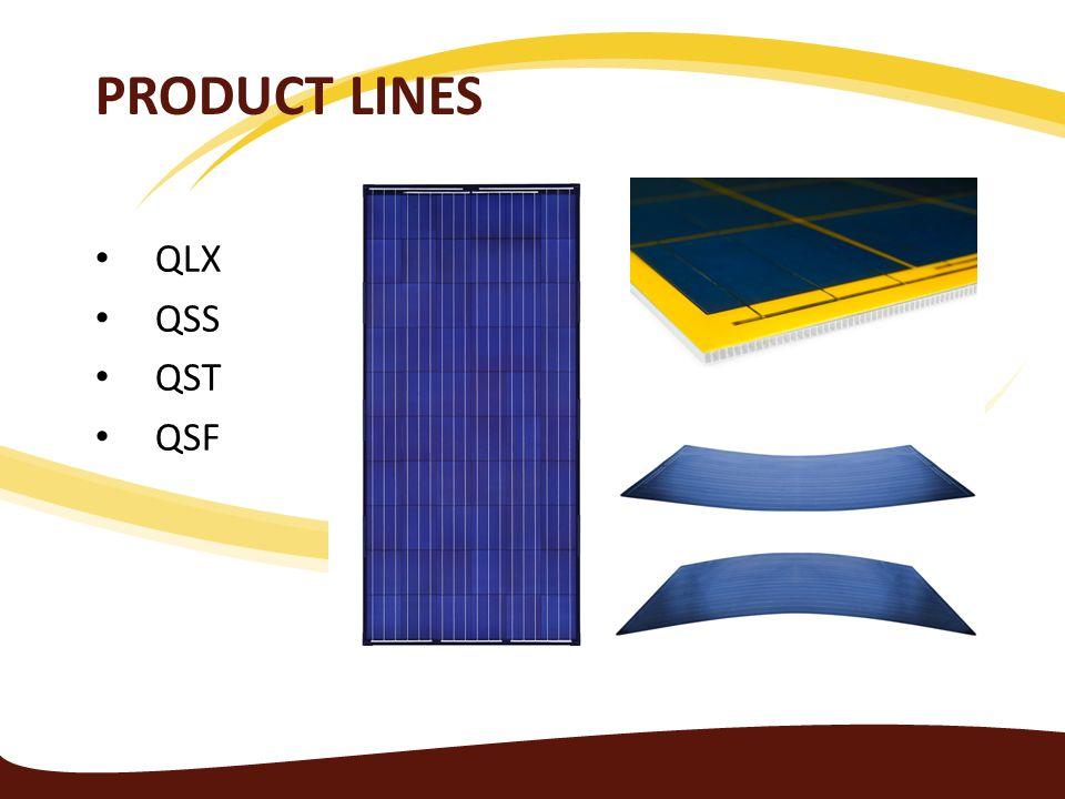 Product Lines QLX QSS QST QSF