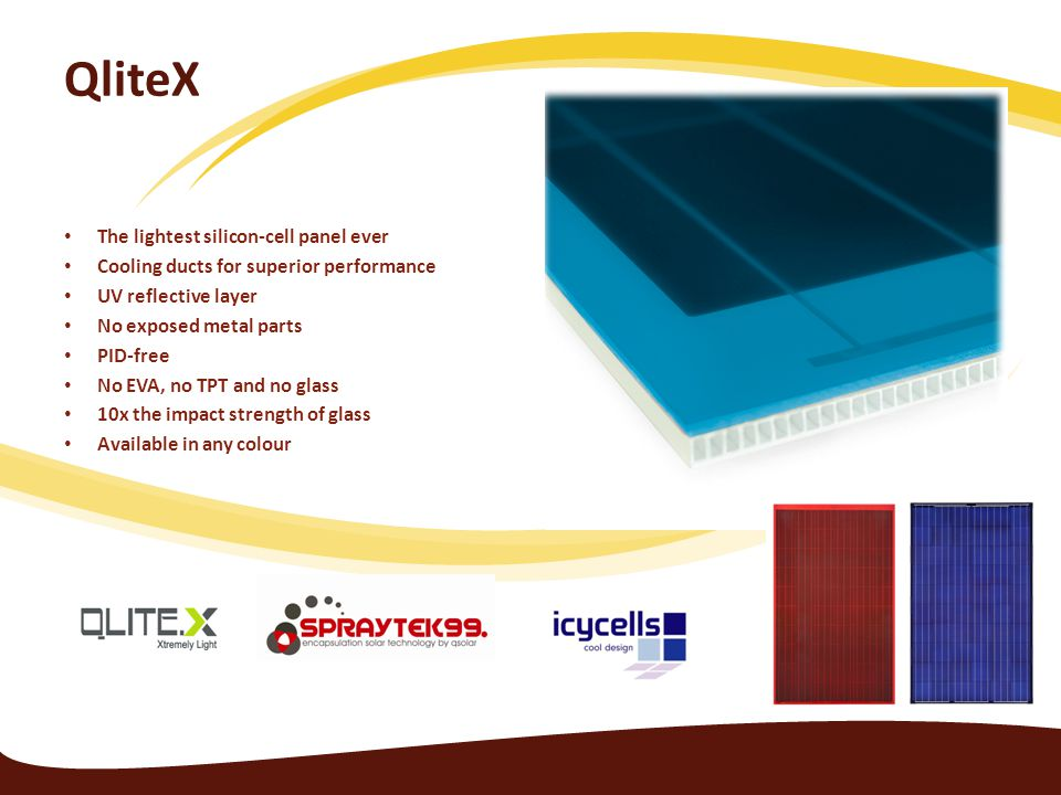 QliteX The lightest silicon-cell panel ever