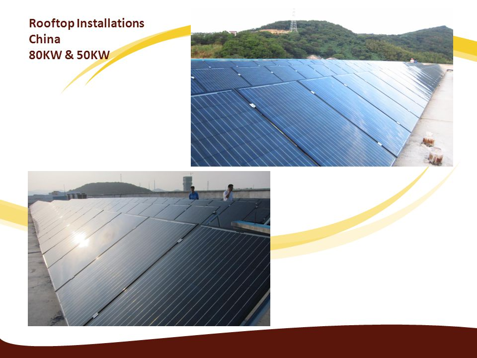 Rooftop Installations China 80KW & 50KW