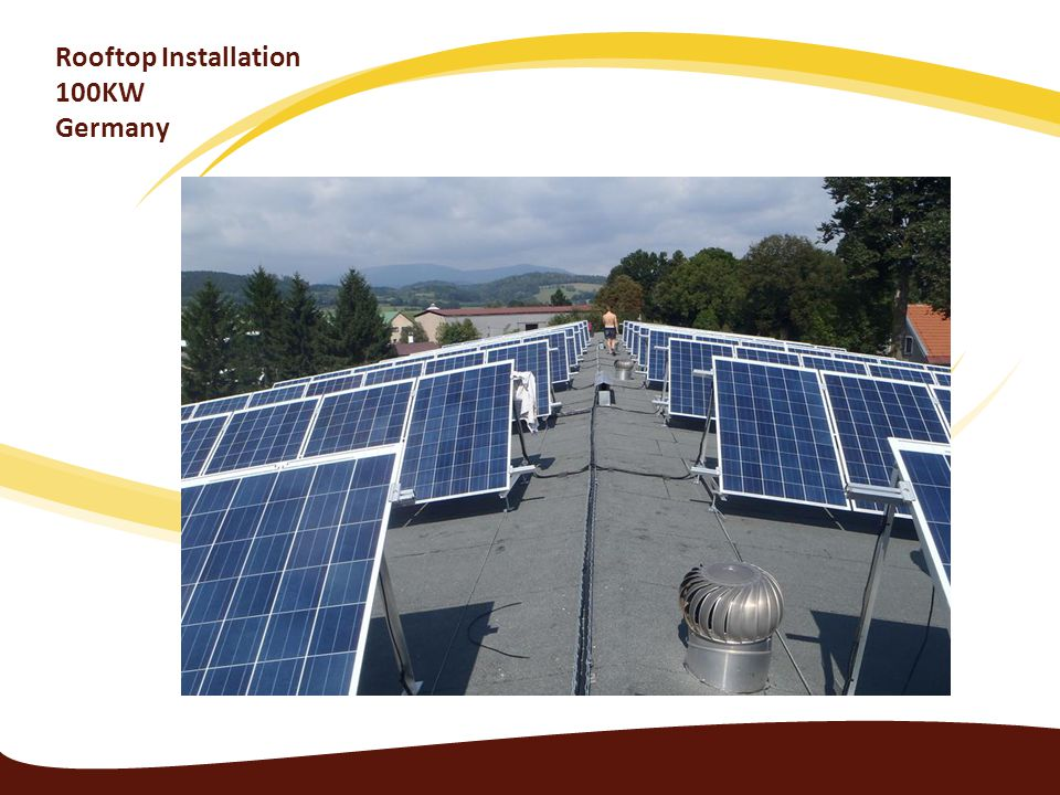 Rooftop Installation 100KW Germany