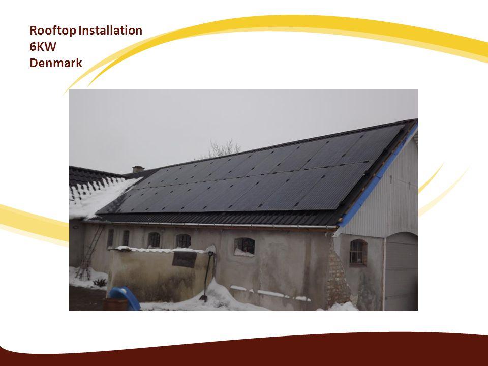 Rooftop Installation 6KW Denmark