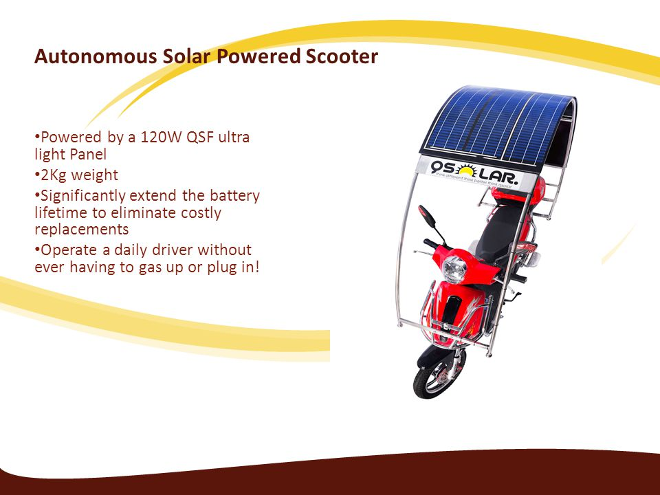 Autonomous Solar Powered Scooter