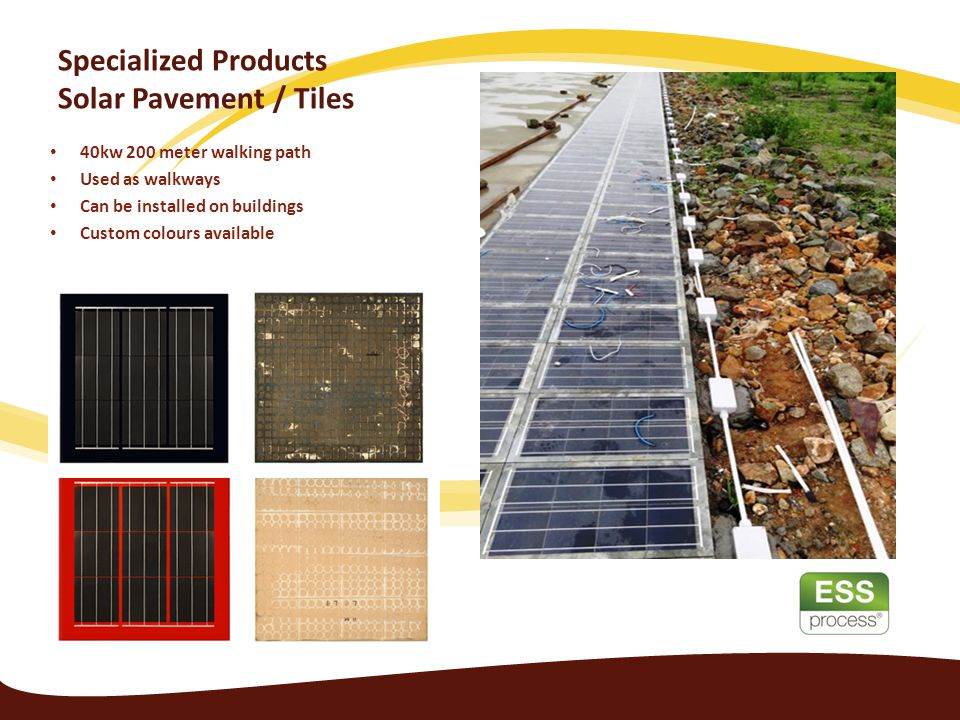 Specialized Products Solar Pavement / Tiles