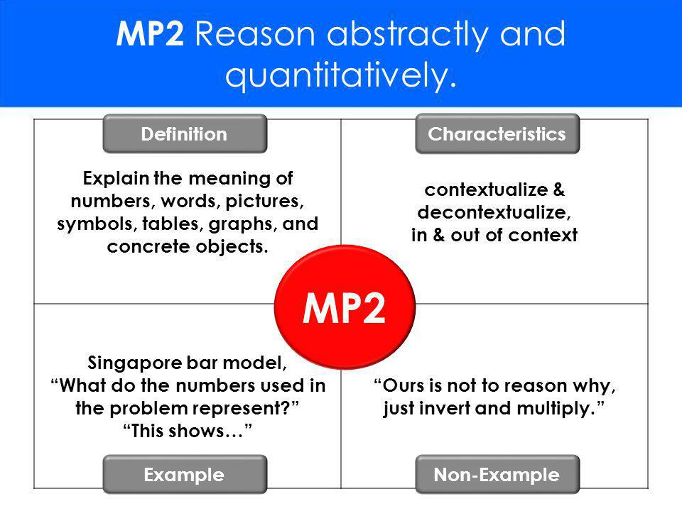 MP2 Reason abstractly and quantitatively.