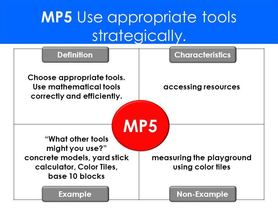 MP5 Use appropriate tools strategically.