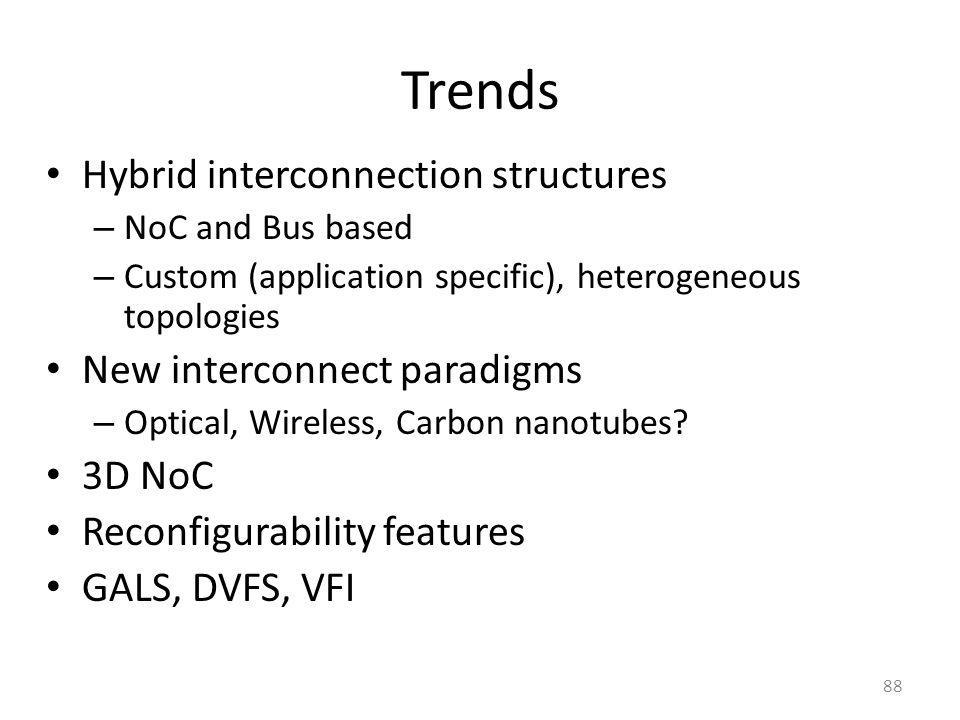Trends Hybrid interconnection structures New interconnect paradigms