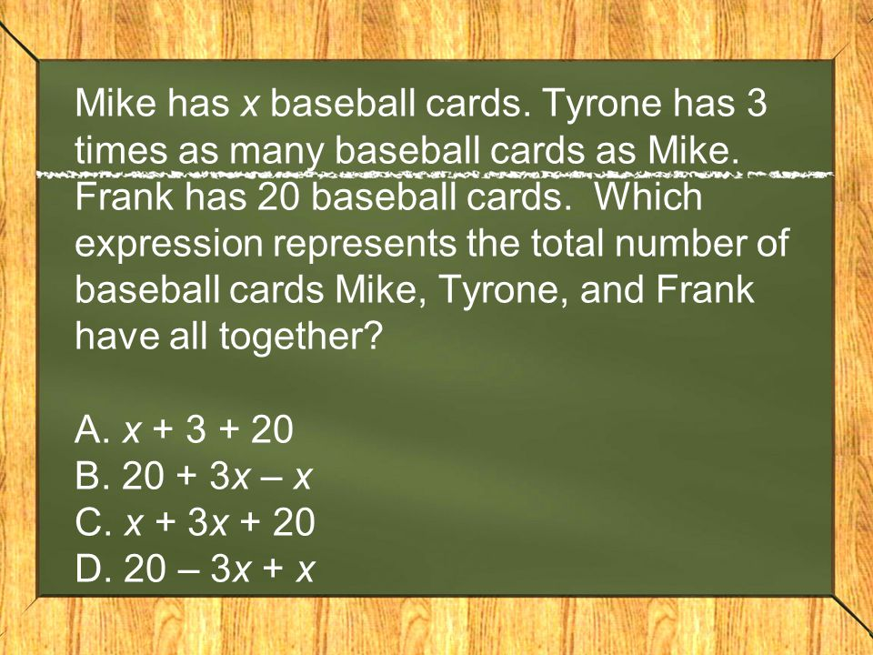 Mike has x baseball cards