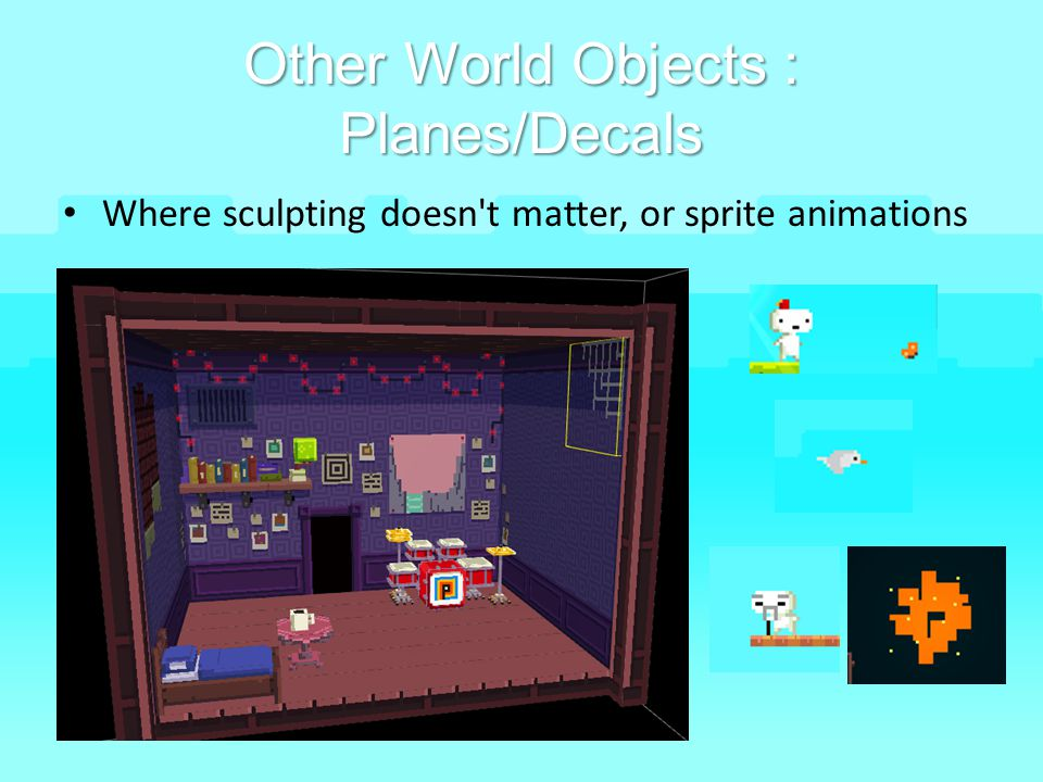 Other World Objects : Planes/Decals