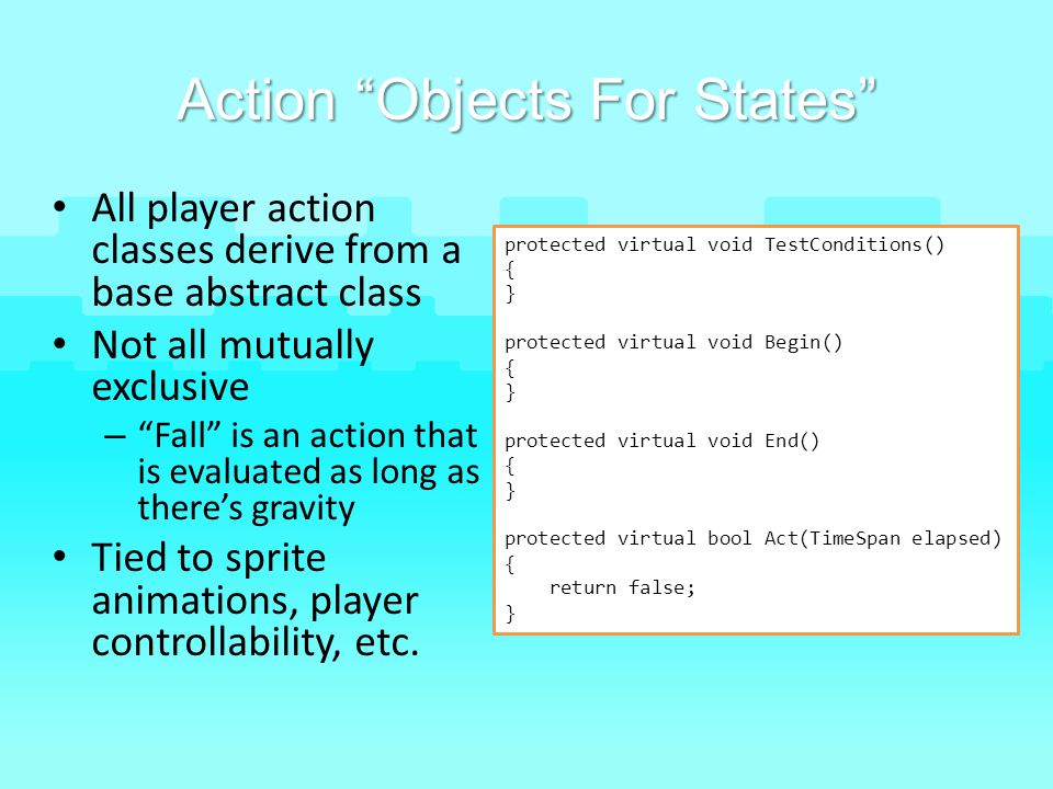 Action Objects For States