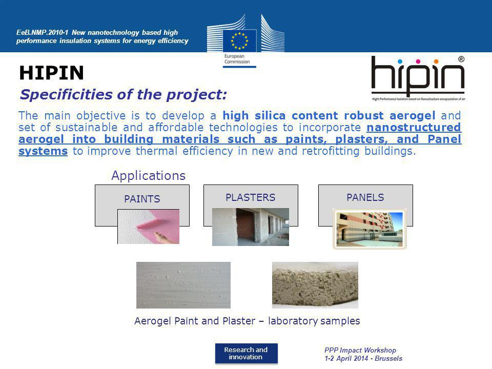 HIPIN Specificities of the project: Applications