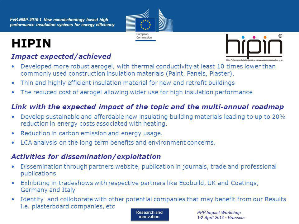 HIPIN Impact expected/achieved