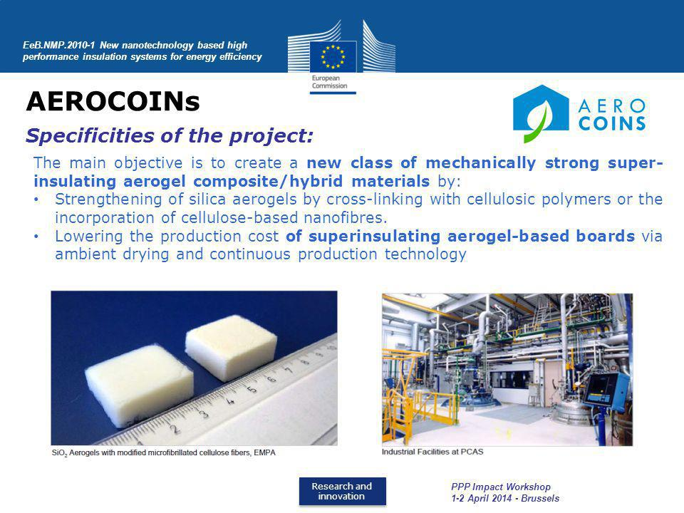 AEROCOINs Specificities of the project: