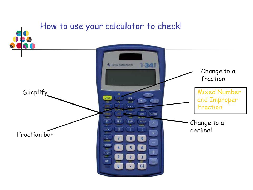 How to use your calculator to check!