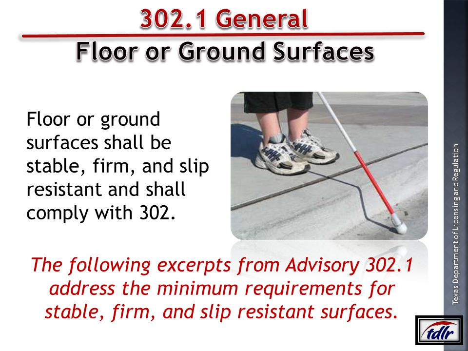 Floor or Ground Surfaces