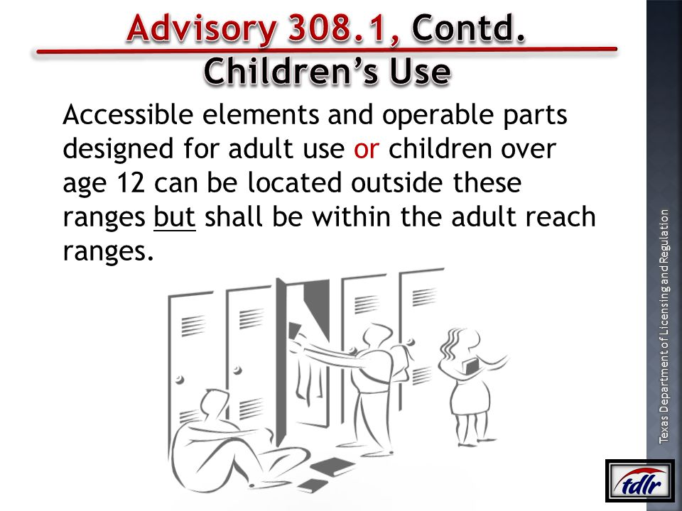 Advisory 308.1, Contd. Children's Use
