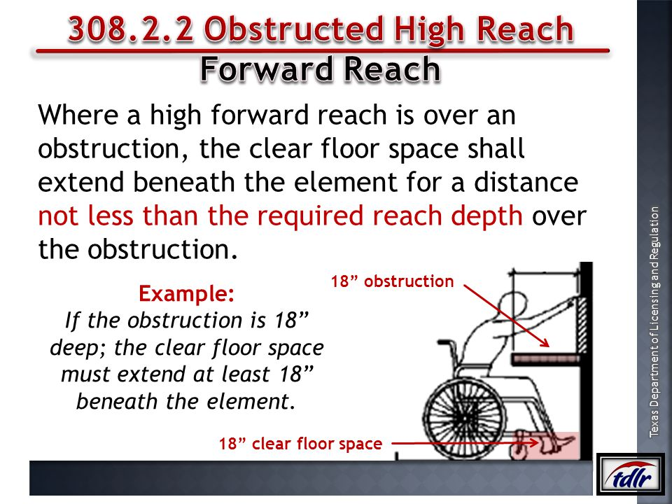 308.2.2 Obstructed High Reach Forward Reach