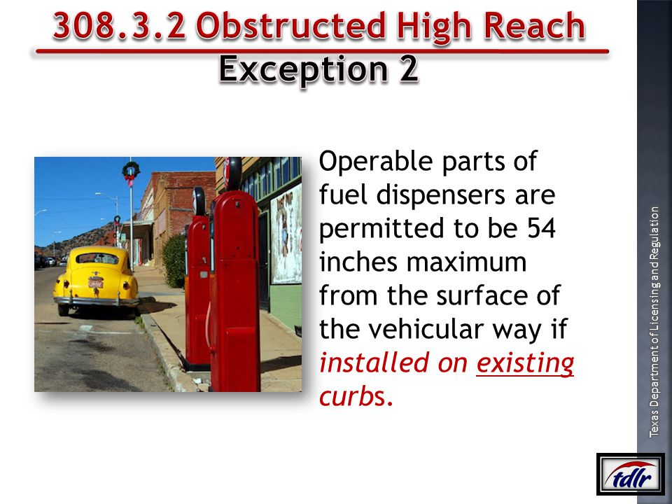 308.3.2 Obstructed High Reach Exception 2