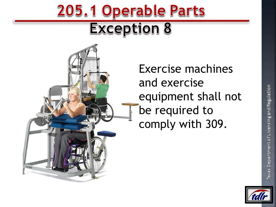 205.1 Operable Parts Exception 8