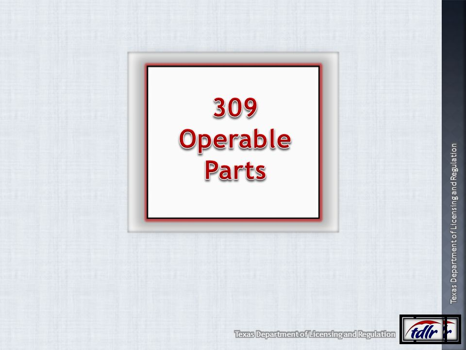 309 Operable Parts