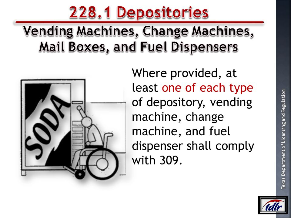 Vending Machines, Change Machines, Mail Boxes, and Fuel Dispensers