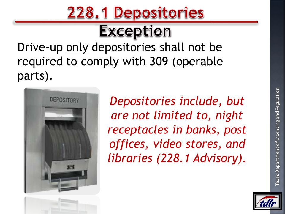 228.1 Depositories Exception