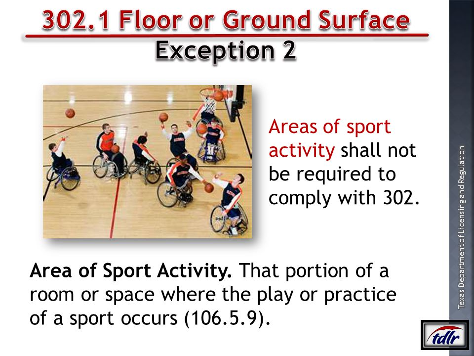 302.1 Floor or Ground Surface Exception 2